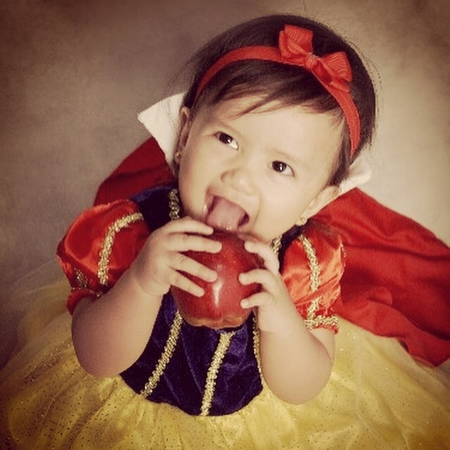 In Snow White Costume